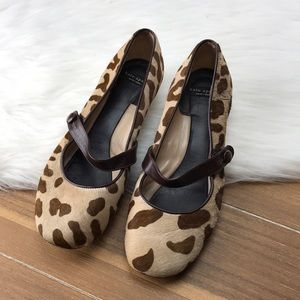 Kate Spade Giraffe Pony Hair Kitten Heels Sz 6.5